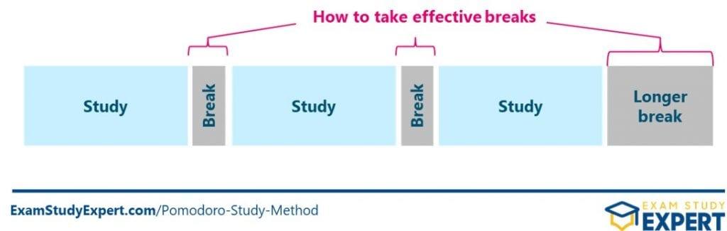 Effective breaks in the Pomodoro Study Method