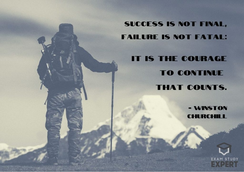 Inspirational exam quote