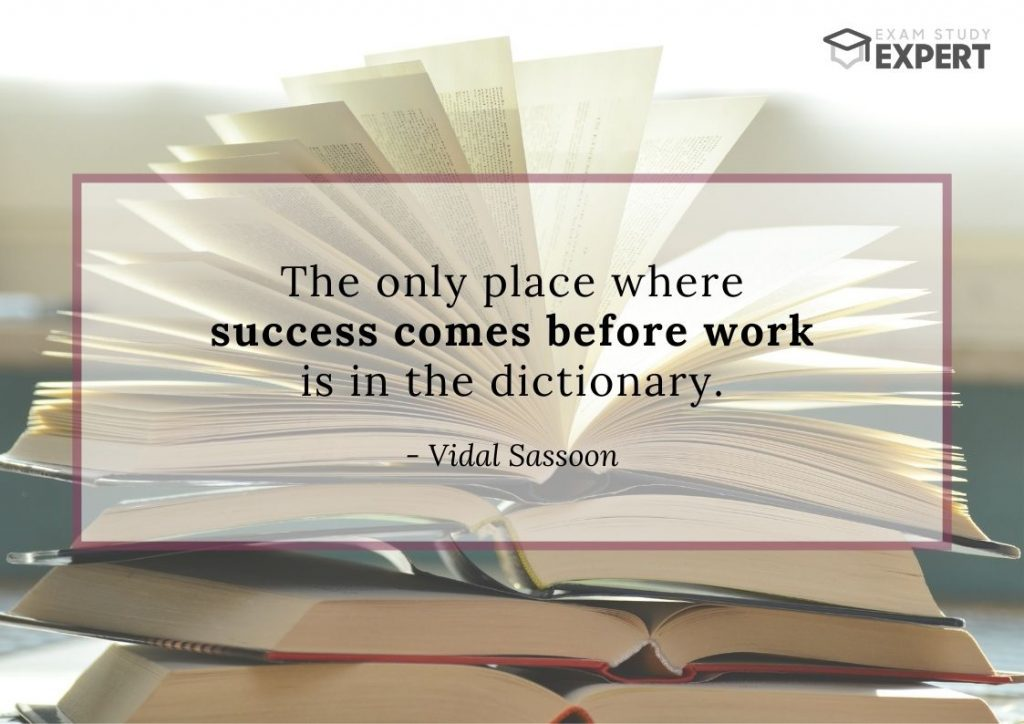 Study motivation quote #32 (Vidal Sassoon) - book background