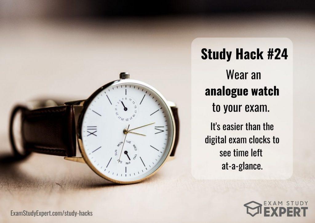study hacks for exams