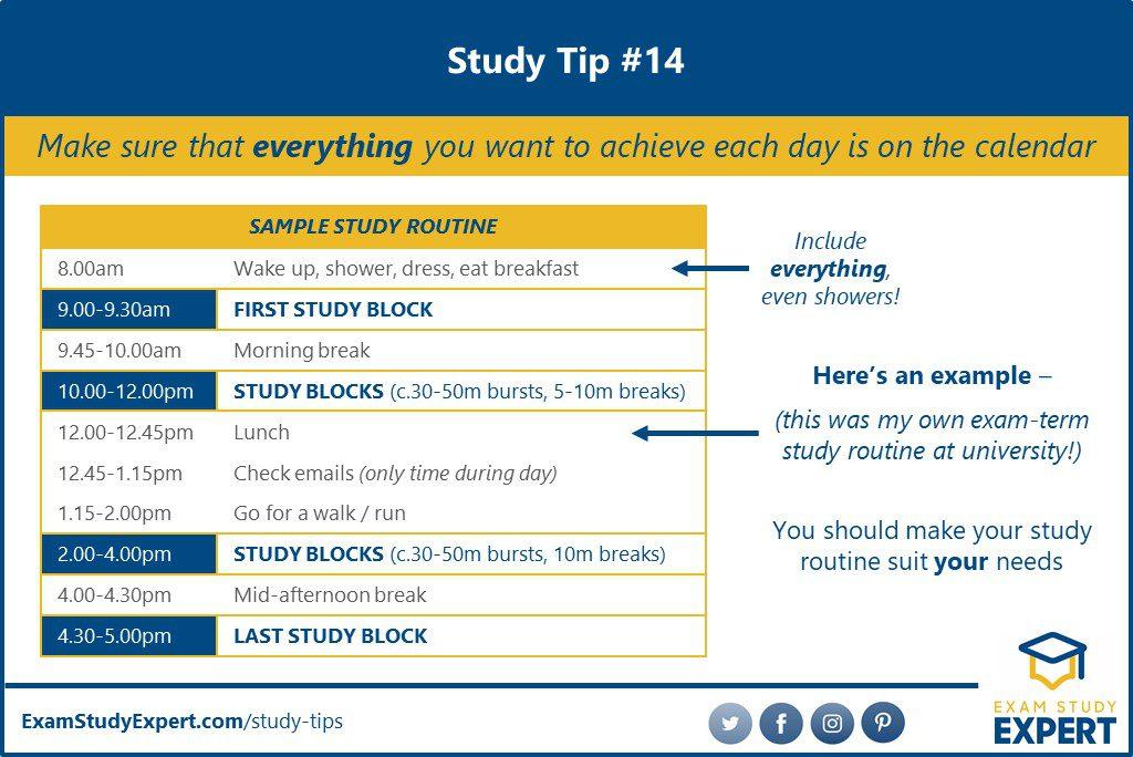 Study routine